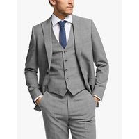 John Lewis and Partners Wool Twist Slim Fit Suit Jacket, Light Grey