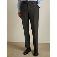 John Lewis and Partners Birdseye Semi Plain Wool Suit Trousers, Charcoal