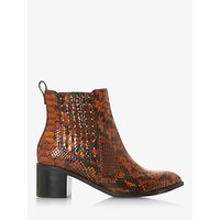 shop for Dune Plaza Leather Block Heel Ankle Boots at Shopo