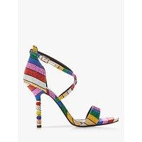 shop for Dune Malibu Embellished Stiletto Heel Sandals, Multi at Shopo