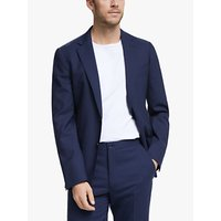 John Lewis and Partners Wool Travel Suit Jacket, Blue