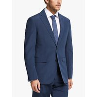 John Lewis and Partners Zegna Silk Linen Tailored Suit Jacket, Indigo