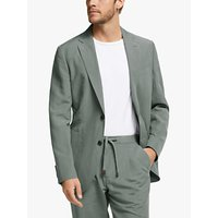 John Lewis and Partners Zegna Silk Linen Tailored Suit Jacket, Green