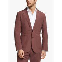 John Lewis and Partners Zegna Silk Linen Tailored Suit Jacket, Raspberry