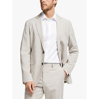 John Lewis and Partners Zegna Silk Linen Tailored Suit Jacket, Sand