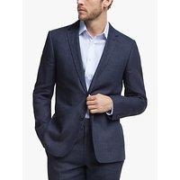John Lewis and Partners Linen Slim Fit Suit Jacket, Navy