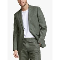 John Lewis and Partners Linen Tailored Suit Jacket, Sage
