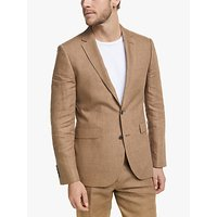 John Lewis and Partners Linen Tailored Suit Jacket, Tobacco