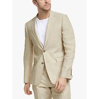 John Lewis and Partners Linen Slim Fit Suit Jacket, Stone