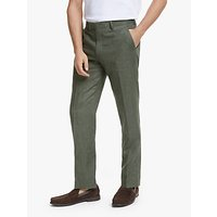 John Lewis and Partners Linen Tailored Suit Trousers, Sage