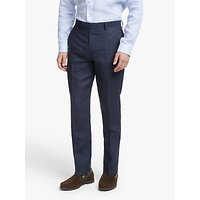 John Lewis and Partners Linen Slim Fit Suit Trousers, Navy
