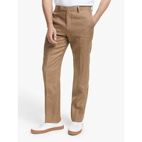 John Lewis and Partners Linen Tailored Suit Trousers, Tobacco