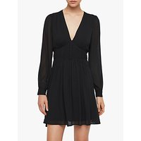 Allsaints Kiana Pleated Mini Dress, Black