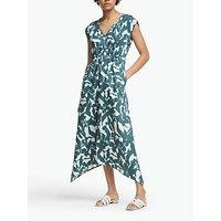 John Lewis and Partners Floral Handkerchief Hem Linen Dress, Multi
