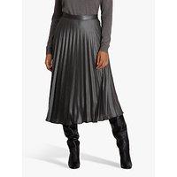 Fenn Wright Manson Petite Felicite Pleated Midi Skirt, Silver