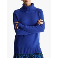 Fenn Wright Manson Petite Aveline Roll Neck Jumper, Blue
