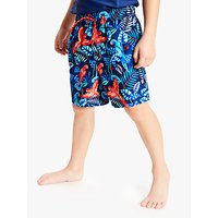 John Lewis & Partners Boys' Tropical Board Shorts, Blue