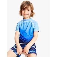 John Lewis & Partners Boys' Ombre Rash Vest, Blue