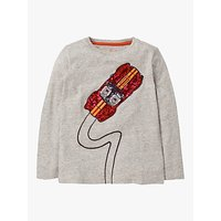 Mini Boden Boys Sequin Car T-Shirt, Grey