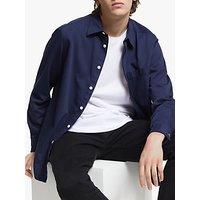 J.Lindeberg David Garment Dye Cotton Twill Shirt, Mid Blue
