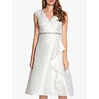 Image of Adrianna Papell Tea Length Mikado Dress, Ivory