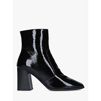 shop for Carvela Softly Patent Square Toe Ankle Boots, Black at Shopo
