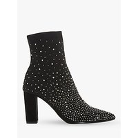 shop for Dune Opaal Diamante Block Heel Ankle Boots, Black at Shopo