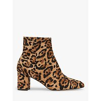 shop for L.K.Bennett Jette Leopard Print Calf Hair Ankle Boots, Natural at Shopo