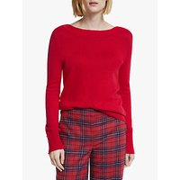 Boden Peggy Wool Blend Jumper, Poinsettia