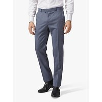 Richard James Mayfair Wool Suit Trousers, Mid Blue