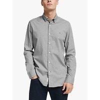 Calvin Klein Cotton Poplin Shirt, Light Heather Grey