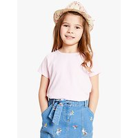 John Lewis and Partners Childrens Flamingo Straw Trilby Hat, Neutral
