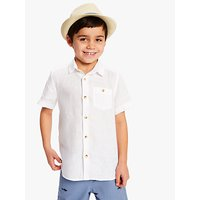 John Lewis and Partners Childrens Straw Trilby Hat, Neutral