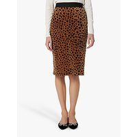 L.K.Bennett Loe Animal Print Velvet Pencil Skirt, Leopard