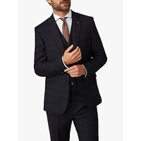 Jaeger Wool Check Regular Fit Suit Jacket, Navy