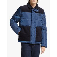 Scotch and Soda Mixed Puffer Jacket, Worker Blue