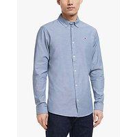 Tommy Jeans TJM Cotton Stretch Oxford Shirt, Black Iris