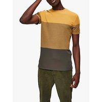 SELECTED HOMME Colour Block T-Shirt, Chai Tea Melange