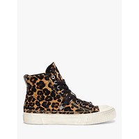 shop for AllSaints Elena Leopard High Top Trainers, Brown at Shopo