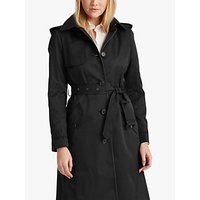 Lauren Ralph Lauren Curve Trench Coat, Black