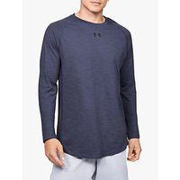 Under Armour Charged Cotton Long Sleeve Training Top, Blue Ink