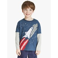 John Lewis and Partners Boys Rocket T-Shirt, Navy