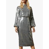Ted Baker Ophilla Long Sleeve Sequin Mini Dress, Gunmetal
