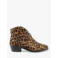 shop for hush Burford Leopard Hair On Leather Ankle Boots, Multi Fur at Shopo