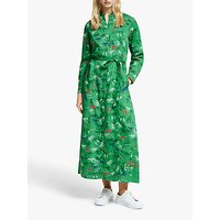 People Tree VandA Bamboo Print Maxi Dress, Green