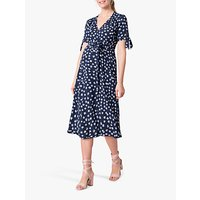 Séraphine Floral Wrap Midi Dress, Navy