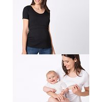 Séraphine Laina Short Sleeve Maternity and Nursing Top, Pack of 2