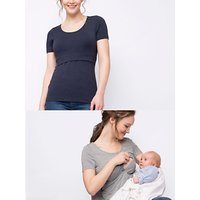 Seraphine Laina Short Sleeve Maternity and Nursing Top, Pack of 2