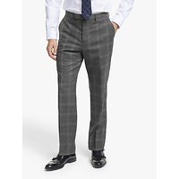John Lewis and Partners Twisted Check Wool Regular Fit Suit Trousers, Grey