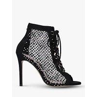 shop for Carvela Grafitti Embellished Lace Up Boot Heels, Black at Shopo